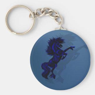 Big Black Stallion Keychain