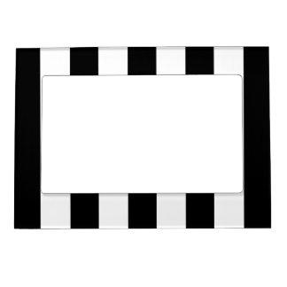 Big Black Stripes on Customizable Background Magnetic Photo Frame