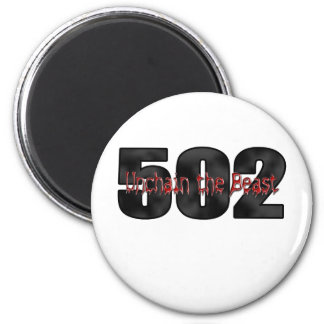 Big Block Beast 502 2 Inch Round Magnet