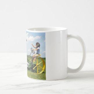 Big Block Lawn Mower Classic White Coffee Mug