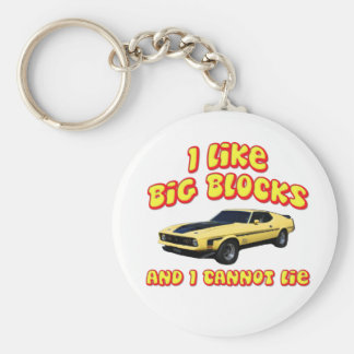 Big Blocks Mustang Mach 1 Fastback Key Chain