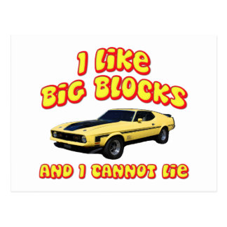 Big Blocks Mustang Mach 1 Fastback Postcard
