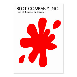 Big Blot - Red on White Large Business Cards (Pack Of 100)