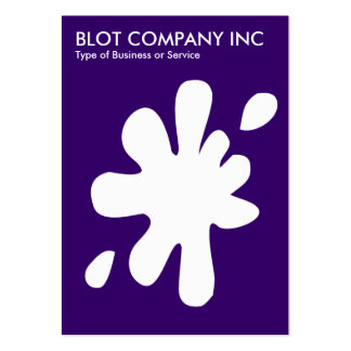 Big Blot - White on Deep Purple 330066 Business Card Templates