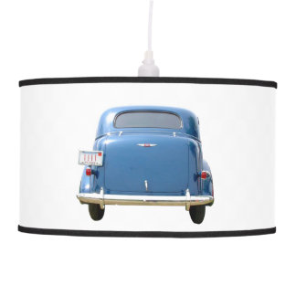 Big Blue 1940s Chevy Man Cave Swag Lamp
