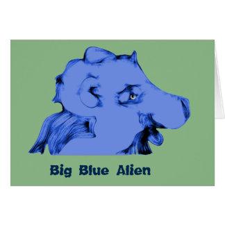 Big Blue Alien Card