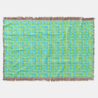 Big Blue and Green Throw Blanket