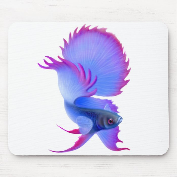 Big Blue Betta Fish Mousepad