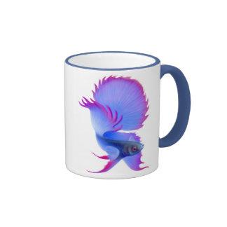 Big Blue Betta Fish Mug