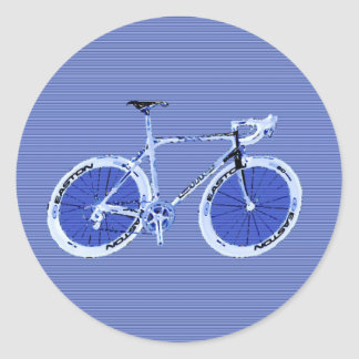 big blue bike classic round sticker