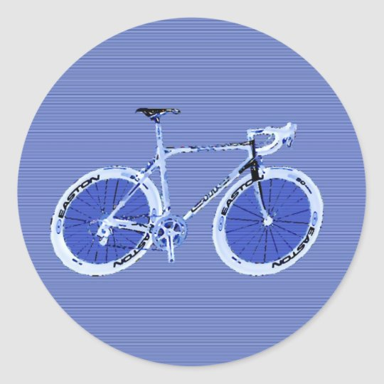 big blue bike classic round sticker
