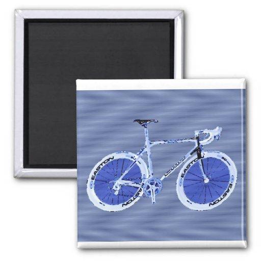 Big Blue Bike Fridge Magnet