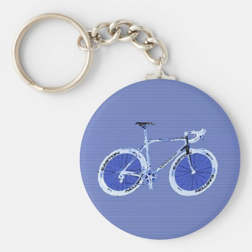 big blue bike keychain