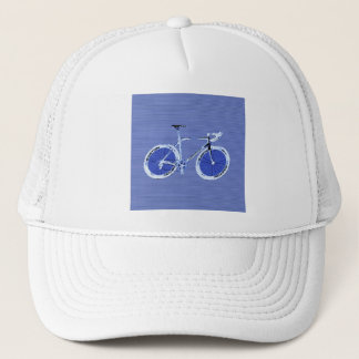 big blue bike trucker hat