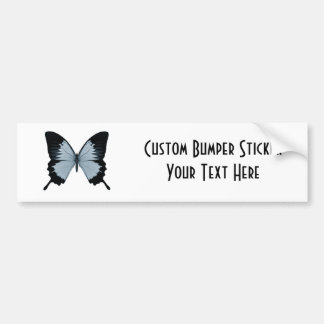 Big Blue & Black Butterfly Car Bumper Sticker