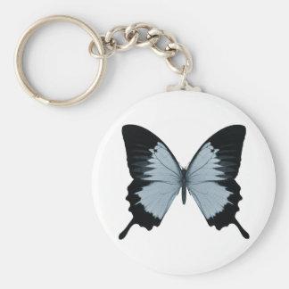 Big Blue & Black Butterfly Keychain