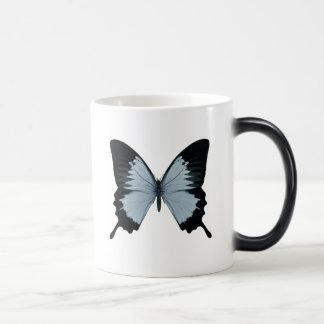 Big Blue & Black Butterfly Magic Mug