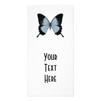 Big Blue & Black Butterfly Photo Card