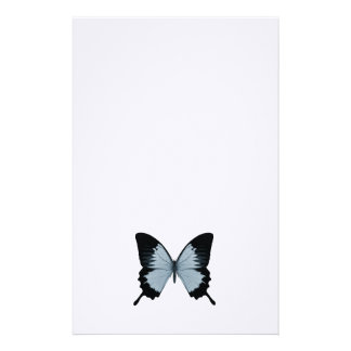 Big Blue & Black Butterfly Stationery