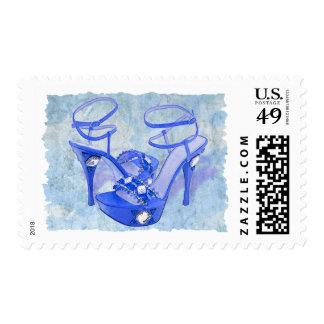 Big Blue Bling Postage
