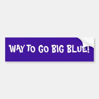 Big Blue bumper Sticker Car Bumper Sticker