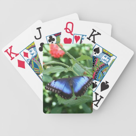 Big Blue Butterfly 2 Bicycle Playing Cards