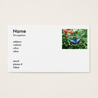 Big Blue Butterfly 2 Business Card