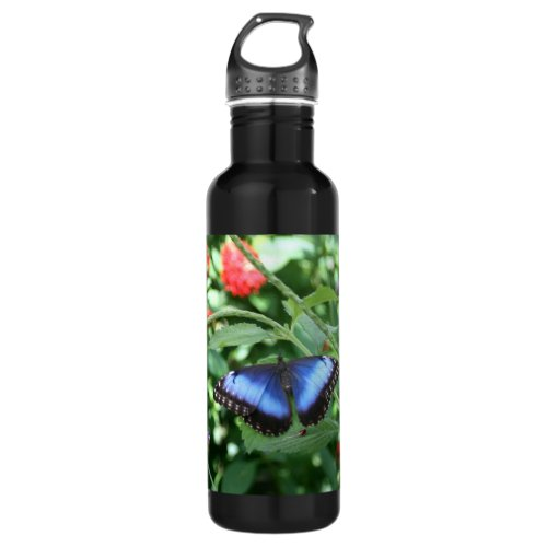 Big Blue Butterfly 2 Water Bottle