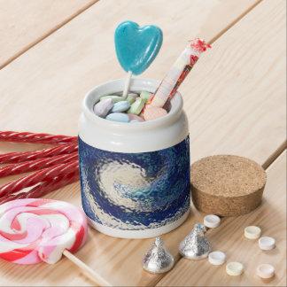 Big Blue Candy Jars