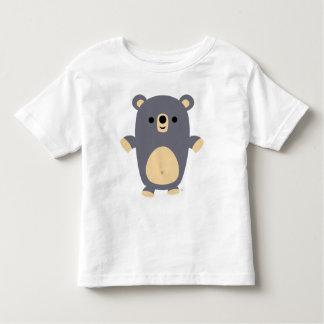 Big Blue Cartoon Bear Kids T-shirt