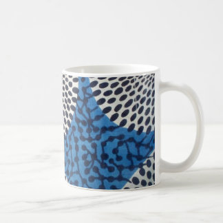 Big blue Dot Circle West African print mug