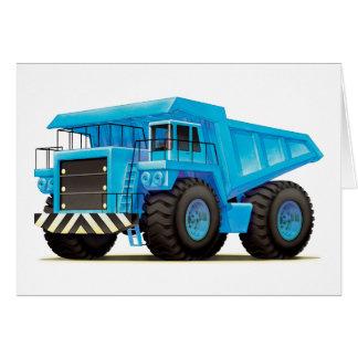Big Blue Dump Truck Card