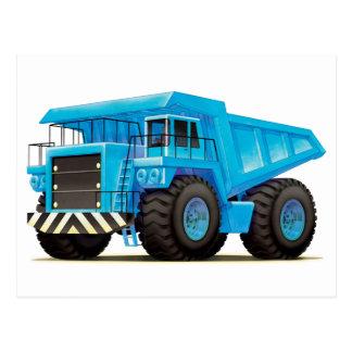 Big Blue Dump Truck Post Card
