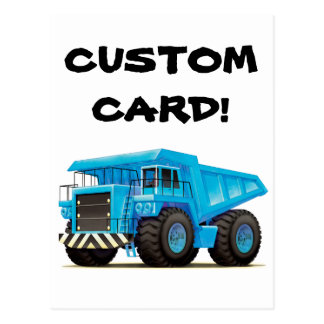 Big Blue Dump Truck Post Cards