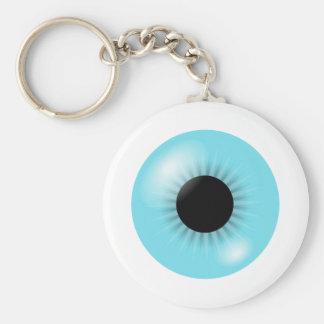 Big Blue Eyeball keychain