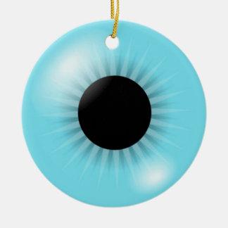 Big Blue Eyeball ormanent Ceramic Ornament