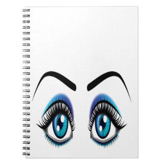 Big Blue Eyes Spiral Note Book