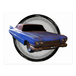 Big Blue Fin 1959 Cadillac Postcard