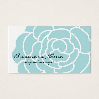 Big Blue Flower Business Card