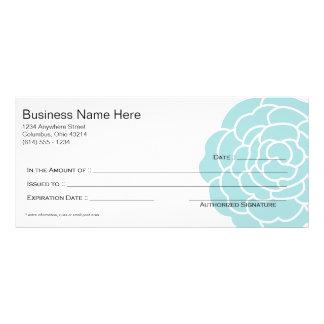 Big Blue Flower Gift Certificate Design 3 Personalized Rack Card