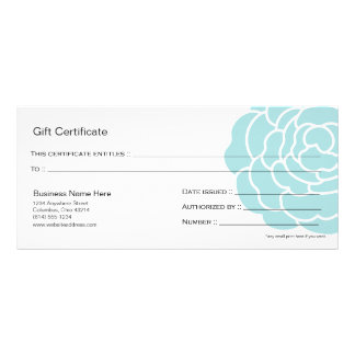 Big Blue Flower Gift Certificate Design 4