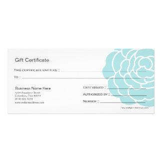 Big Blue Flower Gift Certificate Design 4
