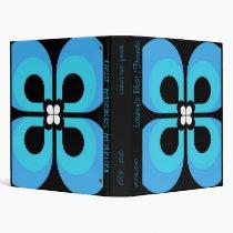 BIG BLUE FLOWER MEMORY BOOK VINYL BINDER