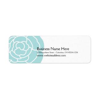 Big Blue Flower Return Address Labels