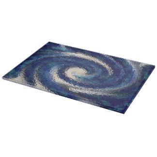Big Blue glass cutting board