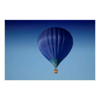 Big Blue Hot Air Balloon Poster