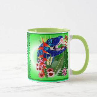 Big Blue Jungle Snake Mug