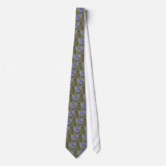 Big Blue Louisiana Iris Neck Tie