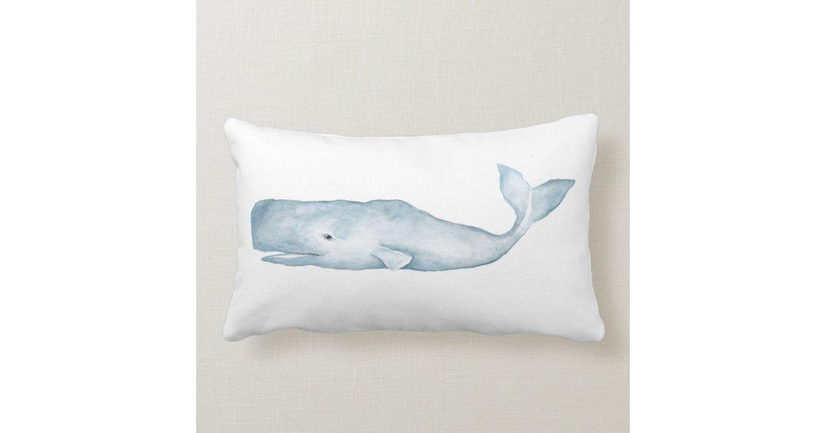 Big Blue Throw Pillows : Big Blue Lumbar Accent Pillow Zazzle
