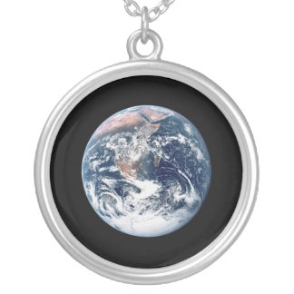 Big Blue Marble Necklace